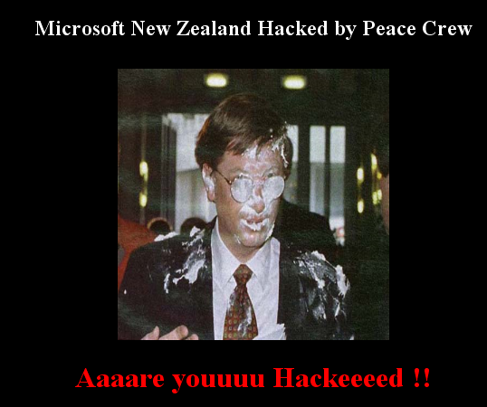 "The current ""Hacked"" state of www.msn.co.nz"